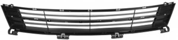Решетка в бампер Mazda 6 GH 2008-2010 (С молдингом, хромированная)