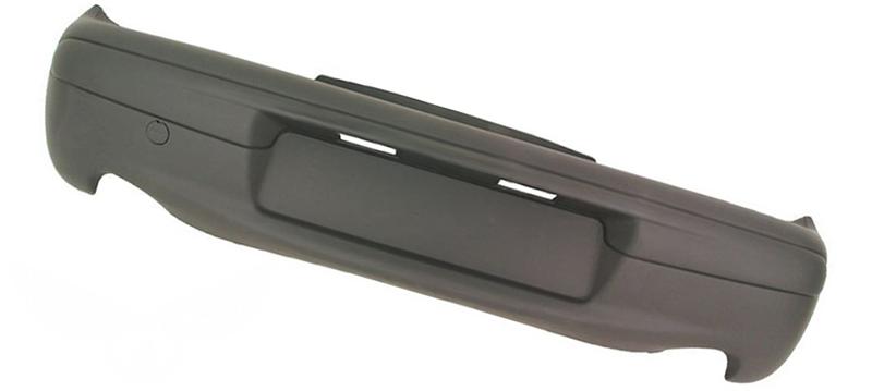 Бампер задний Fiat Seicento (187) 1998-2009 (Черный)