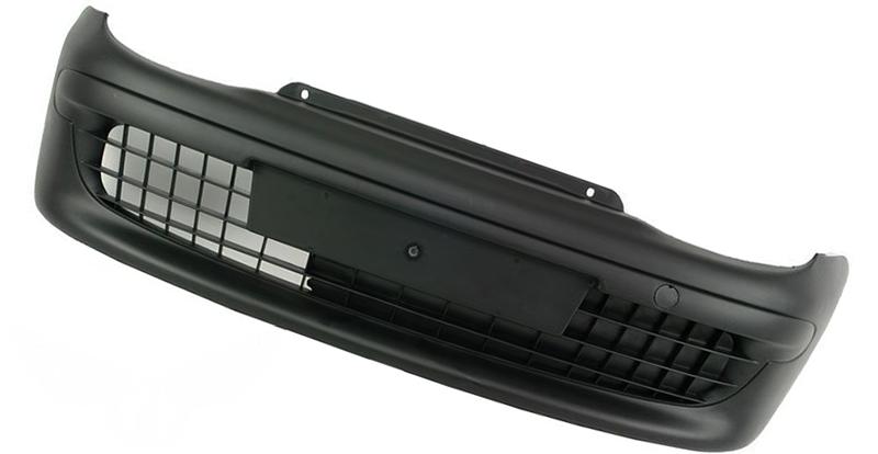 Бампер передний Fiat Seicento (187) 1998-2000 (Черный)