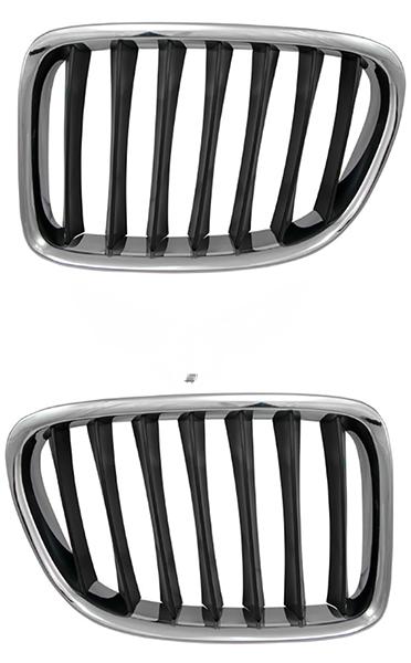 Решетка BMW X1 (E84) 2009+ (Хромированная)