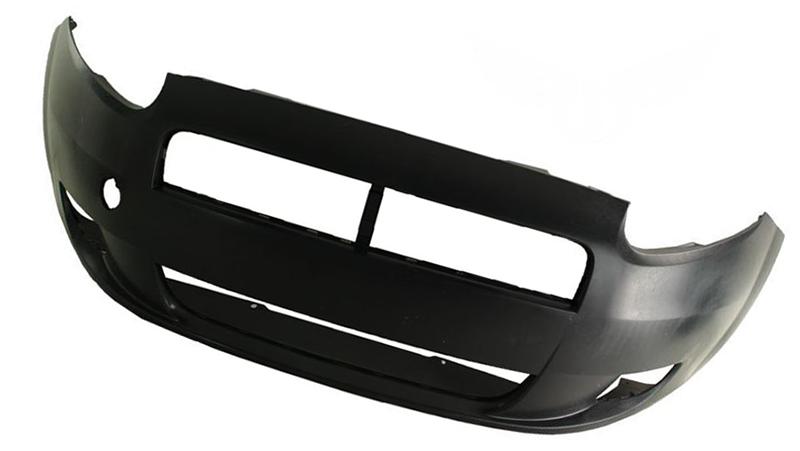 Бампер передний Fiat Grande Punto (199) 2005-2012 (Под покраску, Отверстие для галогенов)