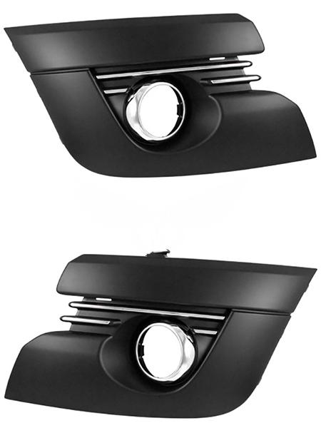 Решетка в бампер Peugeot 3008 2009+ (С отверстием для противотуманной фары)