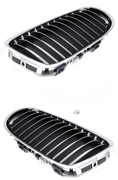 Решетка в бампер BMW (E90) 2008+ (Хромированная)