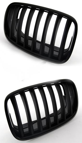 Решетка BMW X5 (E70) 2006-2013 (Гладкая черная)