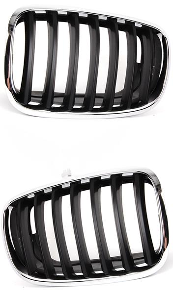 Решетка BMW X5 (E70) 2006-2013 (Хромированная / Черная)
